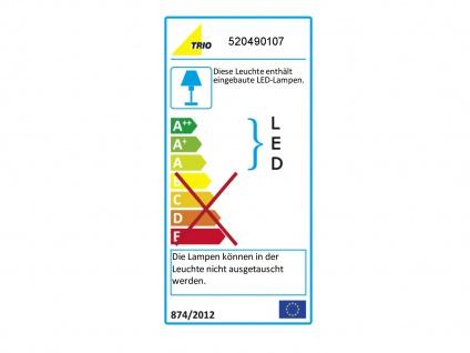 Ausgefallene stufenlos dimmbare LED Schreibtischlampe 85 cm hoch in Nickel matt - Vorschau 3