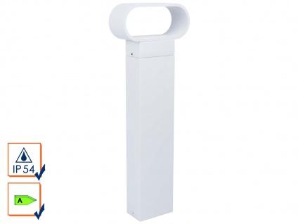LED Wegeleuchte MARIA, Aluminium weiß, 9W, 470 Lm, Pollerleuchte Sockelleuchte