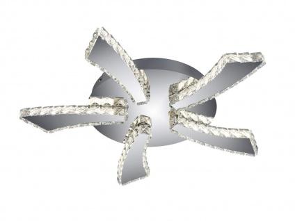 Flache LED Deckenleuchte rund PHIN mit 3fach Color Switch Metall in Chrom Ø 55cm - Vorschau 2