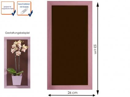 Wandaufbewahrung Wanddeko Memoboard Magnettafel Metall 28 x 55cm, KalaMitica