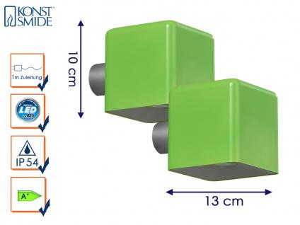 2er-Set LED Außenwandleuchte AMALFI, grün, Wandleuchte Wandstrahler Wandspot