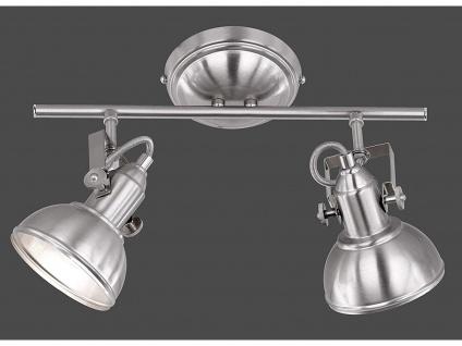 Deckenspot im Retro Look aus Metall in Nickel dreh-und schwenkbar - Wandstrahler - Vorschau 2