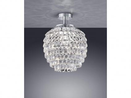 1 flammige Designer Deckenleuchte Lampenschirm Ø35cm mit Acryl Kristallbehang