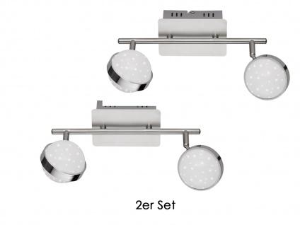 2er Set LED Deckenbalken MONDE, Sterndesign, Deckenleuchten Deckenlampen LED - Vorschau 2