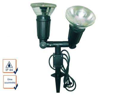 Gartenscheinwerfer für PAR38, max. 2 x 50W mit Erdspieß, 120° drehbar, IP44