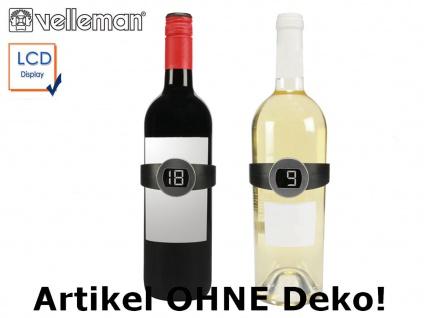 2er Set digitale Weinthermometer zum Klemmen, Flaschenthermometer für Wein
