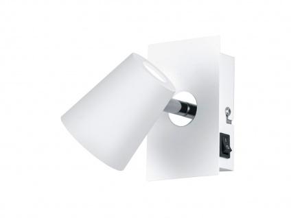 LED Wandstrahler Weiß matt Spot schwenkbar 6W - Wandleuchten Schlafzimmer - Vorschau 1