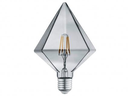 FILAMENT LED E27 Leuchtmittel Kristall rauchfarbig 4 Watt 140 Lumen 3000 Kelvin