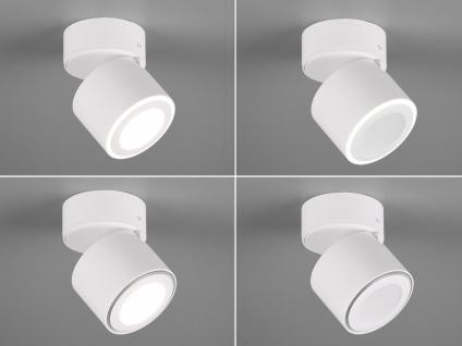 Kleiner LED Deckenstrahler Weiß rund schwenkbare Deckenlampen für Flur und Diele - Vorschau 5