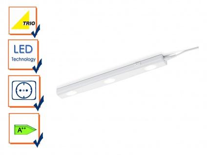 Trio LED Unterbauleuchte Serie 2731 weiß 3x 3W Schalter 40cm Schranklampe