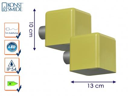 2er- LED Außenwandleuchte AMALFI, olive-gelb, Wandleuchte Wandstrahler Wandspot