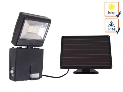 Solar LED Strahler mit 120° Bewegungsmelder, SAMSUNG LEDs, IP44