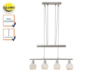 LED Pendellampe höhenverstellbar Lampenschirme Glas, Hängeleuchte Esstisch Küche