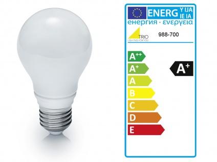 Retro LED Desing Deckenleuchte Nickel matt/Chrom Industrie Look fürs Wohnzimmer - Vorschau 4