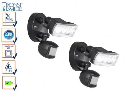 2er-Set HP-LED Außenwandleuchten PRATO Bewegungsmelder 4W LED 280Lm