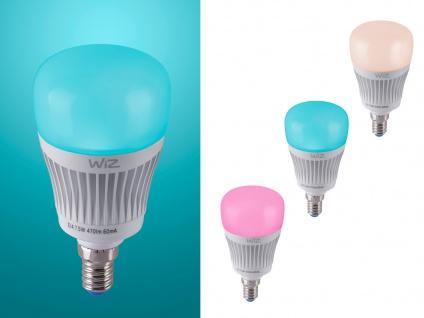 RGBW WiZ LED Leuchtmittel mit E14 Sockel 7 Watt, Sprachsteuerung & Fernbedienung - Vorschau 4