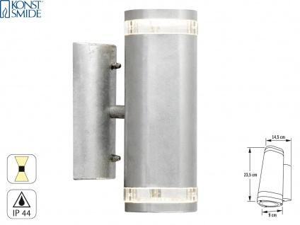 Up-Down Wandleuchte MODENA galv. Stahl, GU10, Höhe 23, 5 cm, IP44