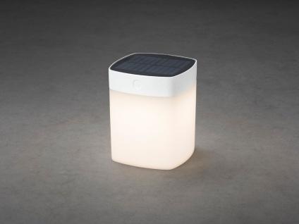 Solar LED Leuchte Weiß 3-Stufen Dimmer Höhe 14, 5cm IP44 Terrassenbeleuchtung - Vorschau 3