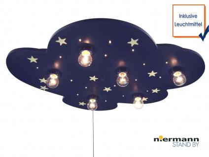 LED Deckenleuchte WOLKE fluoreszierende Sterne Schlummerlicht Kinderzimmerlampe