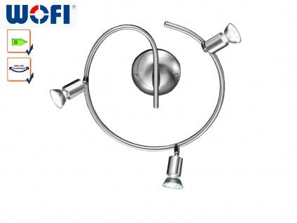 Deckenstrahler / Rondell Nickel matt, schwenkbar, Wofi-Leuchten