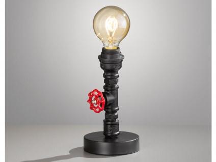 Retro Tischleuchte im Industrial Style, Design Tischlampe Steampunk für Wohnraum
