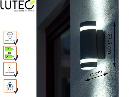 Außenwandleuchte Aluguss IP44 Höhe 23, 5 cm Fassadenbeleuchtung Wandleuchte