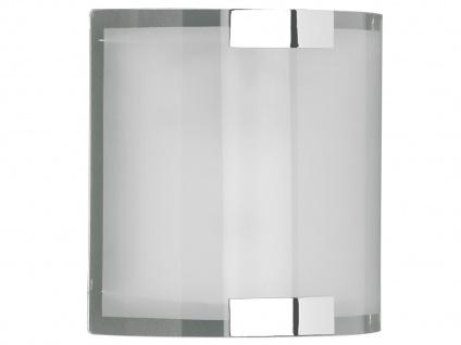TRIO Wandleuchte, 1 x E14, 20 x 20cm, Glas matt, Halterung Chrom