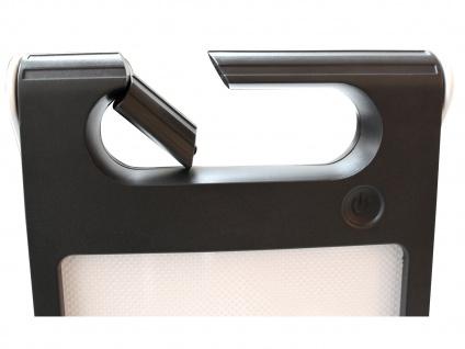 Universal LED Solarleuchte mit USB Ein- & Ausgang dimmbar IP44 H. 18cm Orange - Vorschau 5