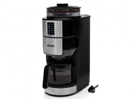 Kaffeemaschine 6 Tassen mit Bohnen Kaffeemühle Kegelmahlwerk & Permanentfilter