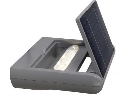 2er Set LED Außenwandleuchte Solar dimmbar & drehbar IP44 Solarlampe Garten - Vorschau 4