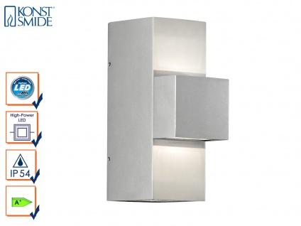 Graue Außenwandleuchte IMOLA, Up/Down-light, 9 Watt HP-LED, IP54