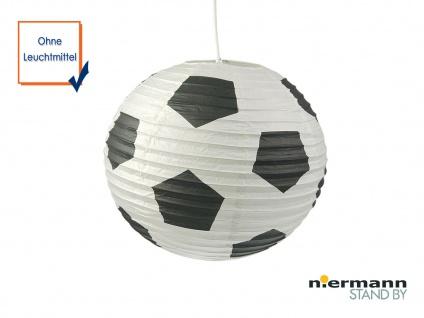 Lampion Kugel Fussball Motiv Ballon Papier Lampe Hängeleuchte Kinderzimmer