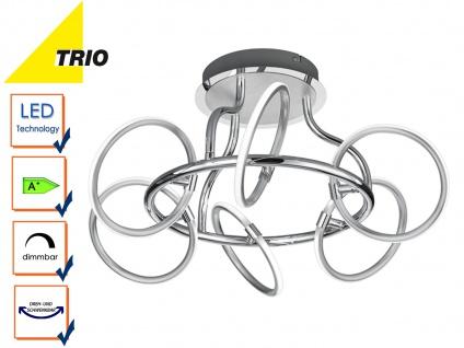 Trio LED Design Deckenleuchte OLYMPUS dimmbar, Deckenlampe rund Switch Dimmer