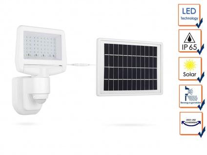 LED Solar Sicherheitsleuchte mit Bewegungsmelder Außenfluter Fassadenbeleuchtung