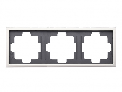 3-fach Rahmen / Blende Edelstahl beschichtet für den Innenbereich, GAO