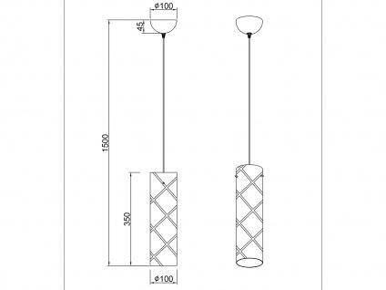 Zeitlose Pendelleuchte 1 flammig aus Metall in Chrom mit Rauchglas für Esszimmer - Vorschau 4