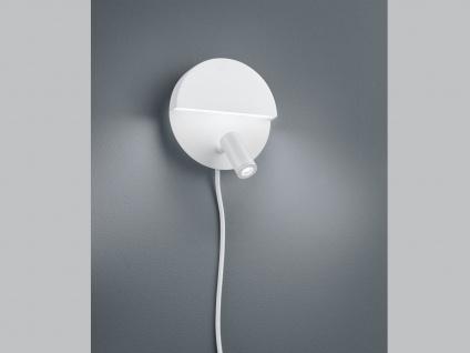 LED runde Wandlampe mit mehreren Lichtquellen, getrennt schaltbar, weiß matt - Vorschau 5
