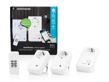 WLAN Steckdosen-Set + 2 Funksteckdosen und Fernbedienung / App Steuerung - Vorschau 1