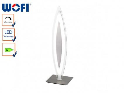 LED-Tischleuchte mit Dimmer, Glasblende satiniert, Wofi-Leuchten