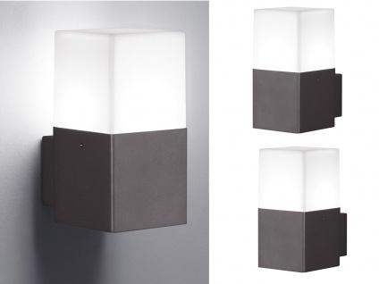 Eckige LED Außenwandlampen Anthrazit 2er SET Außenleuchten Terrassenbeleuchtung
