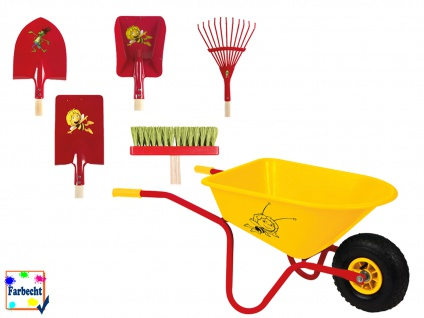 Gartengeräte-Set mit Schubkarre -DIE BIENE MAJA- Strandspielzeug