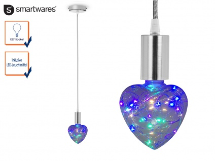 Design LED Lampenaufhängung Textil E27 Fassung SILBER 150cm Textilkabel grau