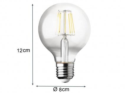 Filament LED dimmbar E27 Leuchtmittel Vintage Klares Glas 7 Watt 806 Lumen 2700K - Vorschau 5