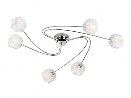 Design Deckenleuchte 6 Kugelschirme Kunststoff Weiß G9 Fassung Wohnzimmerleuchte