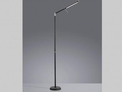 Ausgefallene stufenlos dimmbare LED Stehleuchte 162cm hoch in schwarz matt