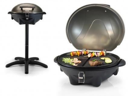 Elektrogrill mit Deckel für BBQ - Tischgrill Standgrill Gartengrill Balkongrill