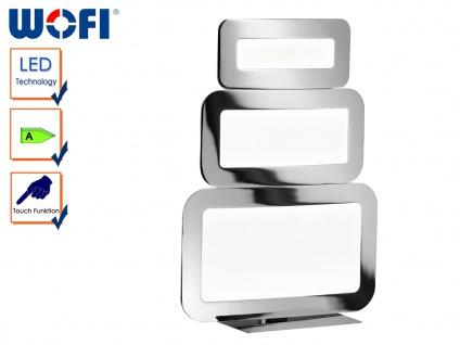 LED Tischlampe SAGA Weiß / Chrom, Touchschalter, Tischleuchten Nachtischlampe