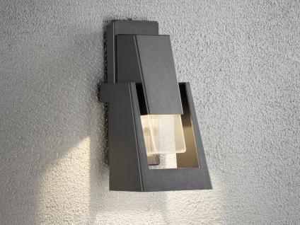2er Set dimmbare Außenwandleuchten schwarz 350Lm, austauschbares LED Modul - Vorschau 4