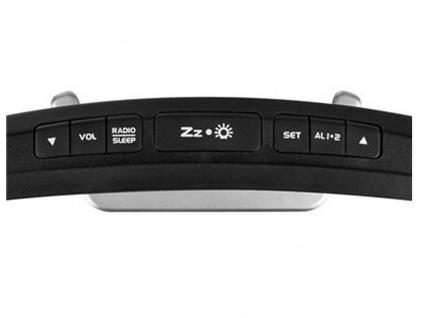 Radiowecker mit USB-Anschluss, Uhrenradio mit 2 Weckzeiten & Schlummerfunktion - Vorschau 5