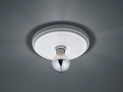 LED Stuckrosette Deckenlampe Gipsleuchte mit Strahlen Design rund klein bemalbar